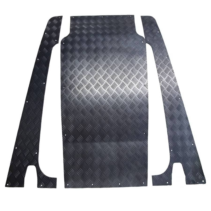LS7724 Chequer Plate Puma Bonnet 3pc Grey